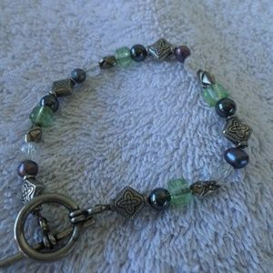 Vintage glass beaded bracelet